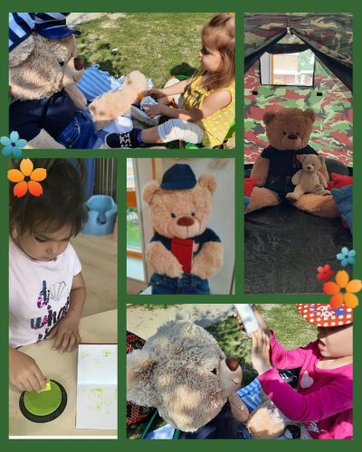 Themed learning activities for international children at day care.