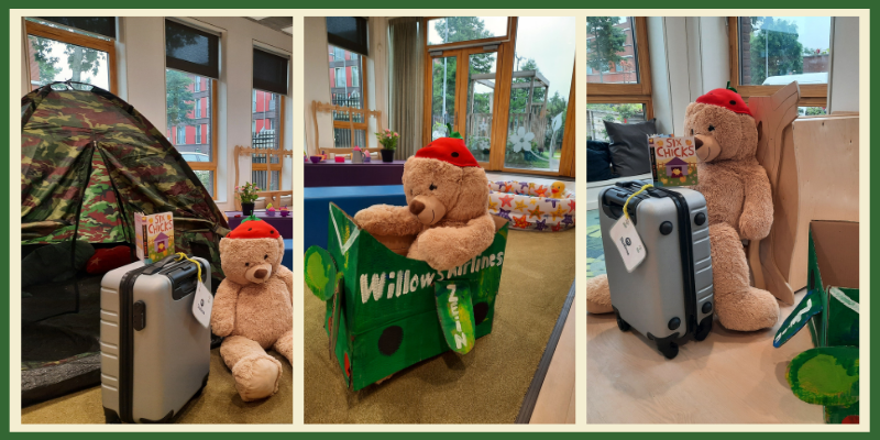 Themed learning about summer holidays at day care in The Hague.