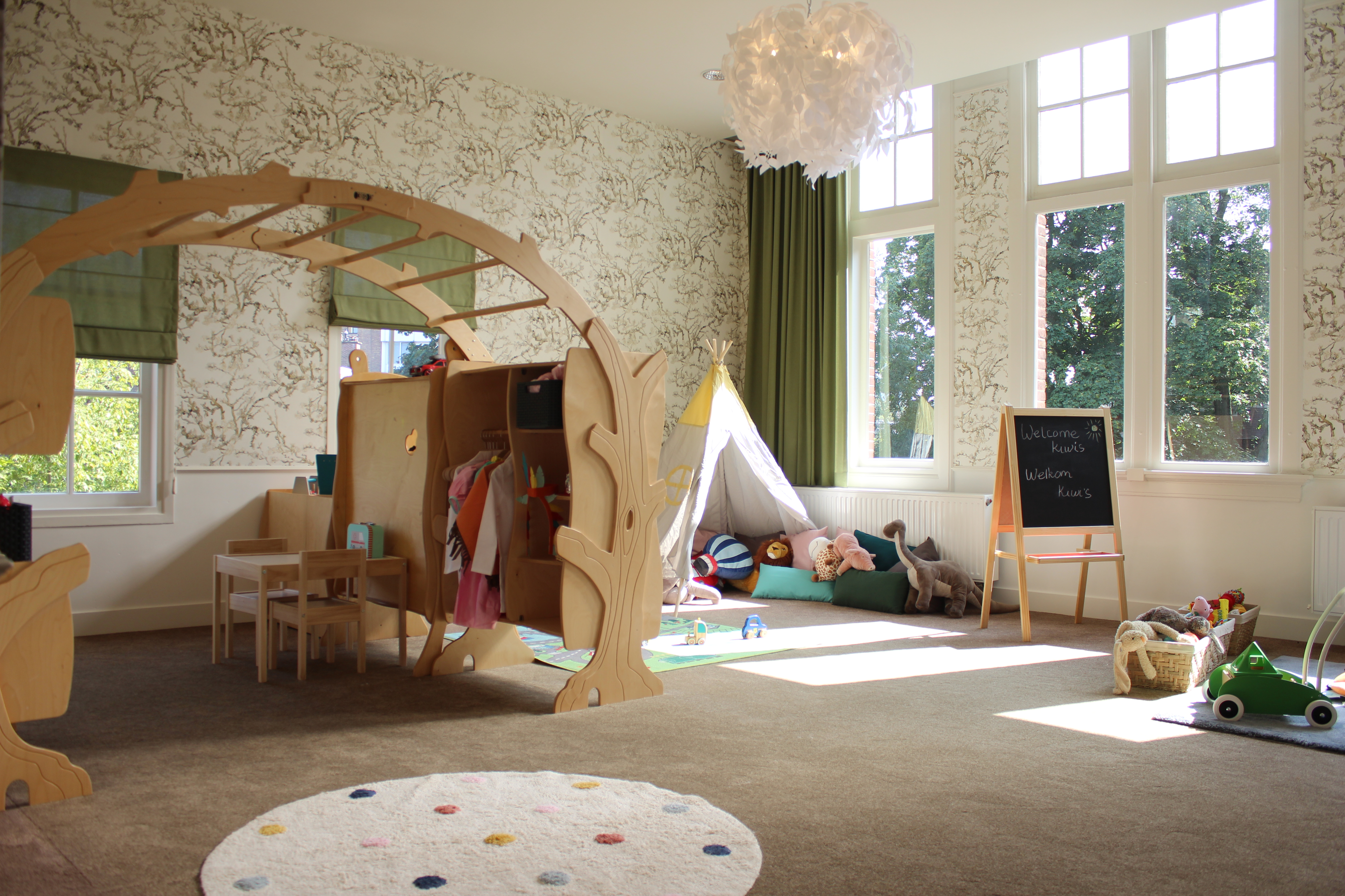 Beautiful day care room at Zein International Childcare